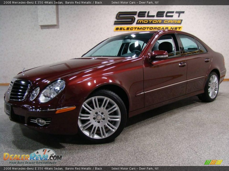 2008 mercedes benz e 350 4matic sedan barolo red metallic for Mercedes benz e 350 2008