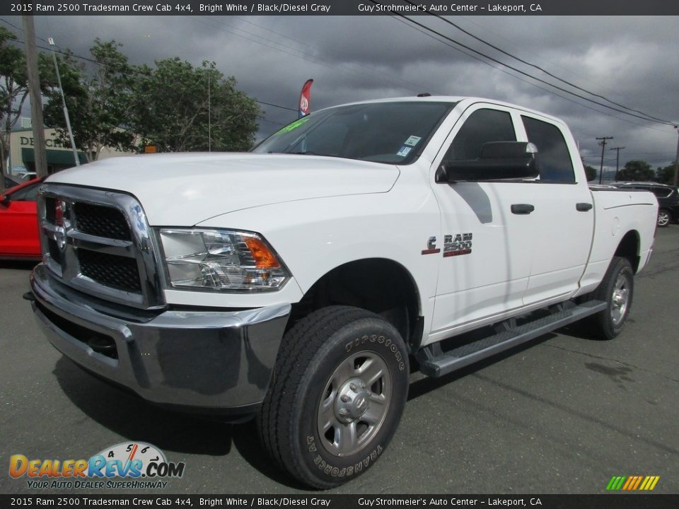 2015 Ram 2500 Tradesman Crew Cab 4x4 Bright White / Black/Diesel Gray Photo #3