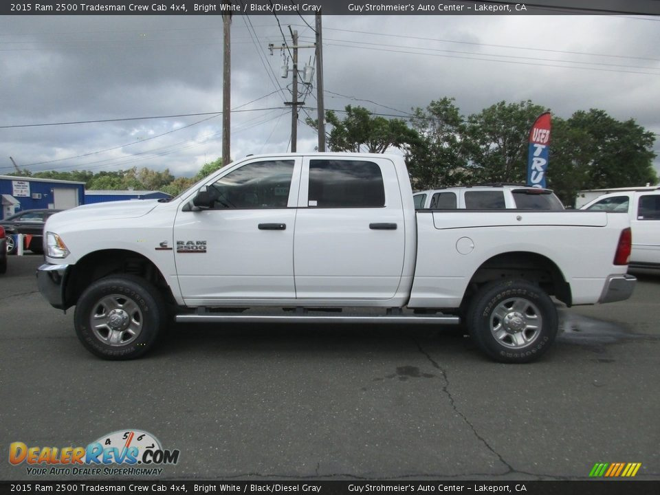 2015 Ram 2500 Tradesman Crew Cab 4x4 Bright White / Black/Diesel Gray Photo #4