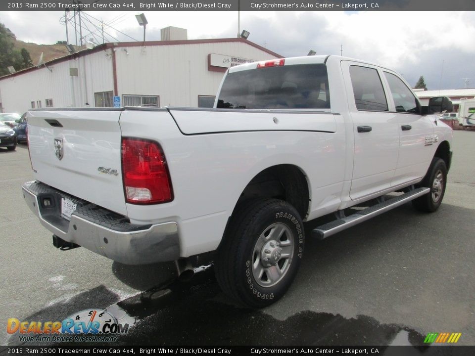 2015 Ram 2500 Tradesman Crew Cab 4x4 Bright White / Black/Diesel Gray Photo #7