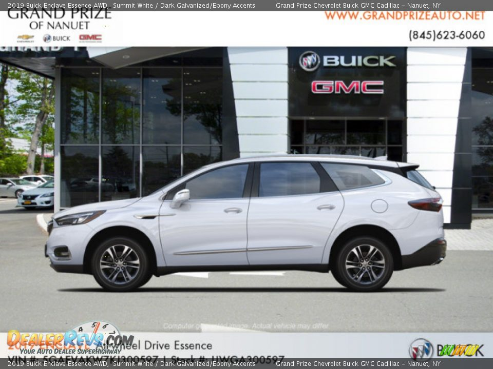 2019 Buick Enclave Essence AWD Summit White / Dark Galvanized/Ebony Accents Photo #2