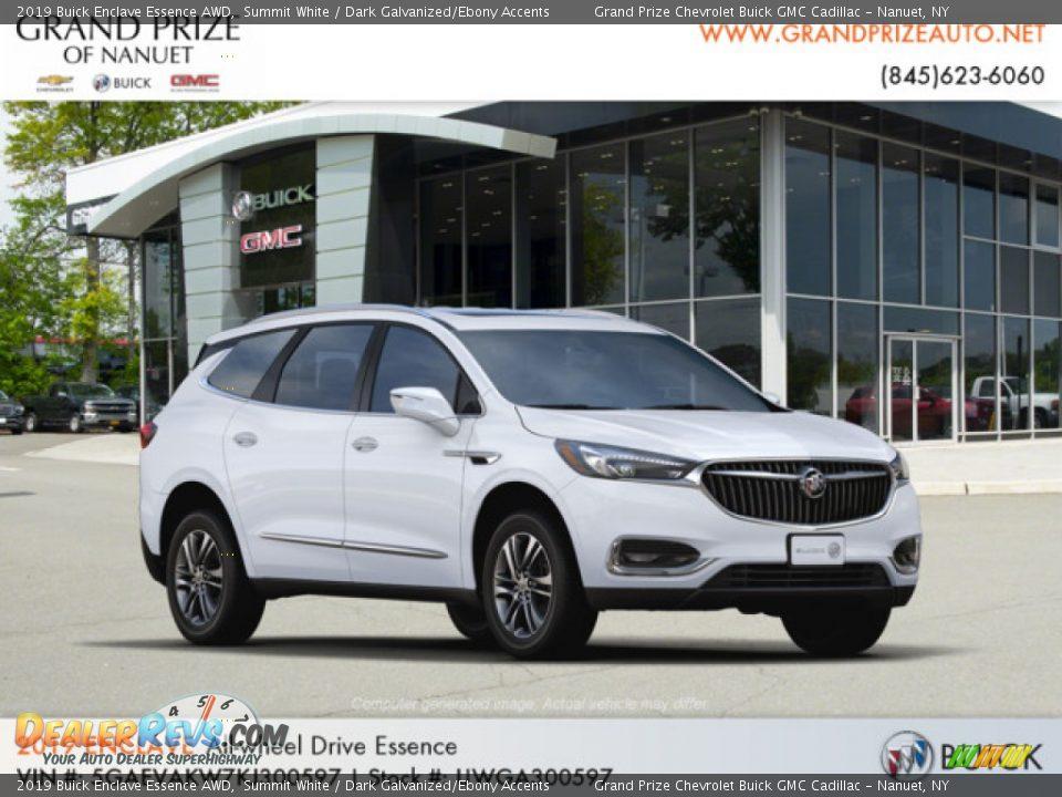 2019 Buick Enclave Essence AWD Summit White / Dark Galvanized/Ebony Accents Photo #4