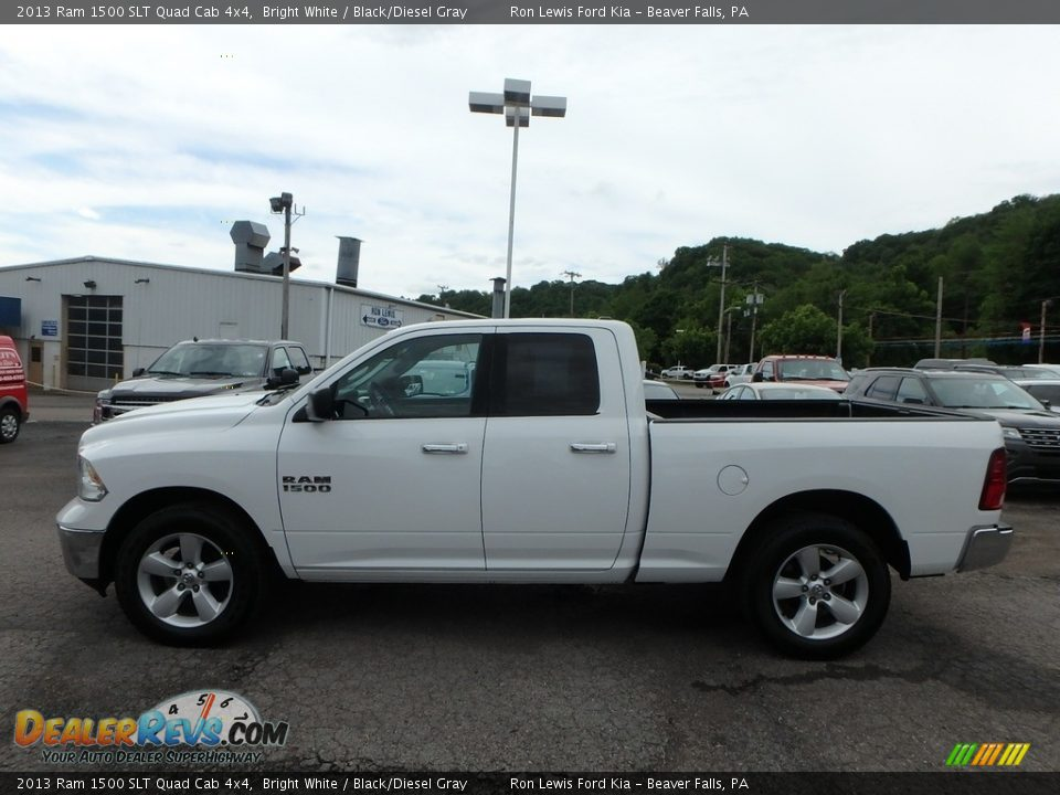 2013 Ram 1500 SLT Quad Cab 4x4 Bright White / Black/Diesel Gray Photo #5