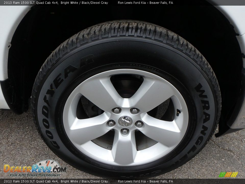 2013 Ram 1500 SLT Quad Cab 4x4 Bright White / Black/Diesel Gray Photo #9