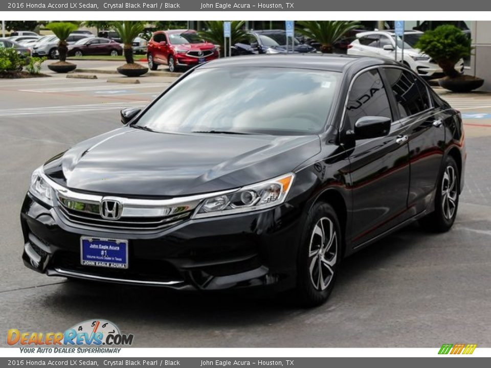 2016 Honda Accord LX Sedan Crystal Black Pearl / Black Photo #3