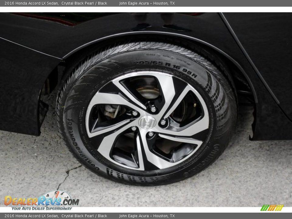 2016 Honda Accord LX Sedan Crystal Black Pearl / Black Photo #11