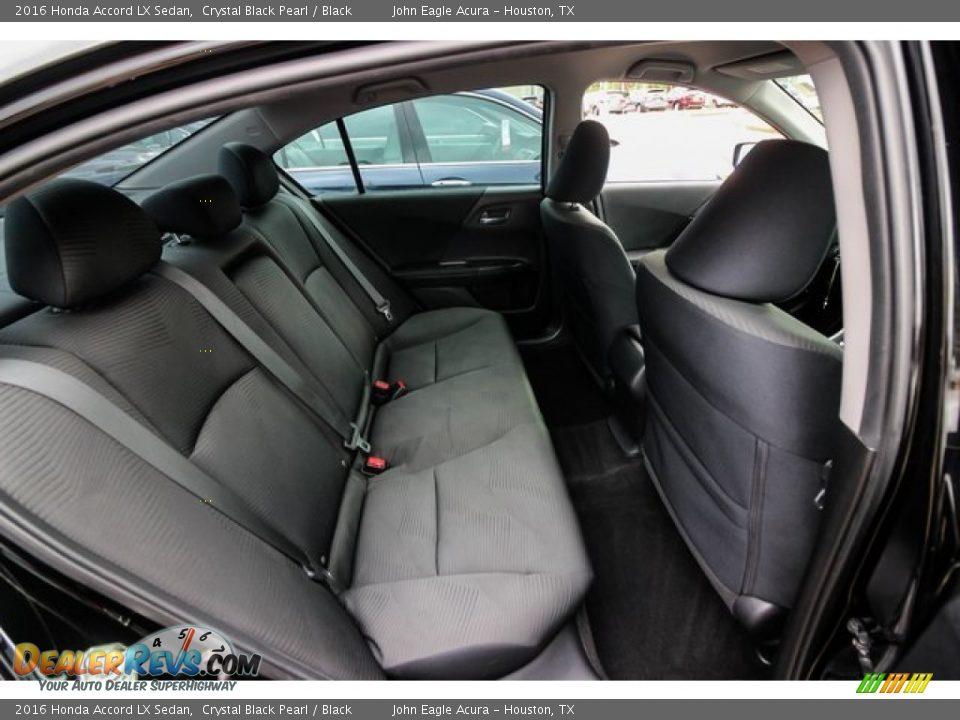 2016 Honda Accord LX Sedan Crystal Black Pearl / Black Photo #24