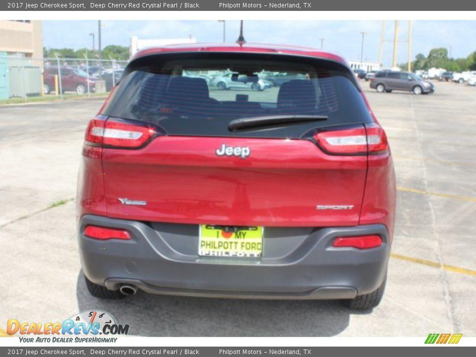 2017 Jeep Cherokee Sport Deep Cherry Red Crystal Pearl / Black Photo #8