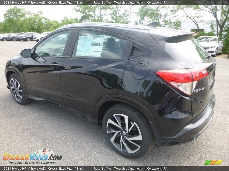 2019 Honda HR-V Sport AWD Crystal Black Pearl / Black Photo #3