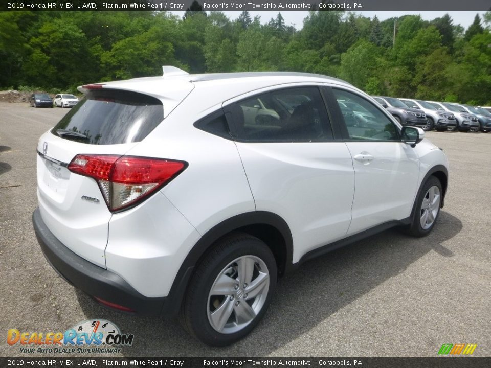 2019 Honda HR-V EX-L AWD Platinum White Pearl / Gray Photo #4