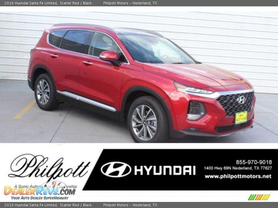 2019 Hyundai Santa Fe Limited Scarlet Red / Black Photo #1