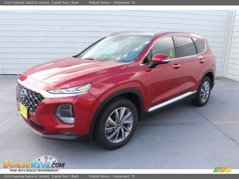 2019 Hyundai Santa Fe Limited Scarlet Red / Black Photo #4