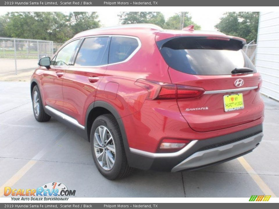2019 Hyundai Santa Fe Limited Scarlet Red / Black Photo #6