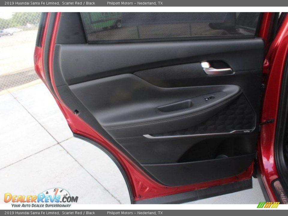 2019 Hyundai Santa Fe Limited Scarlet Red / Black Photo #17