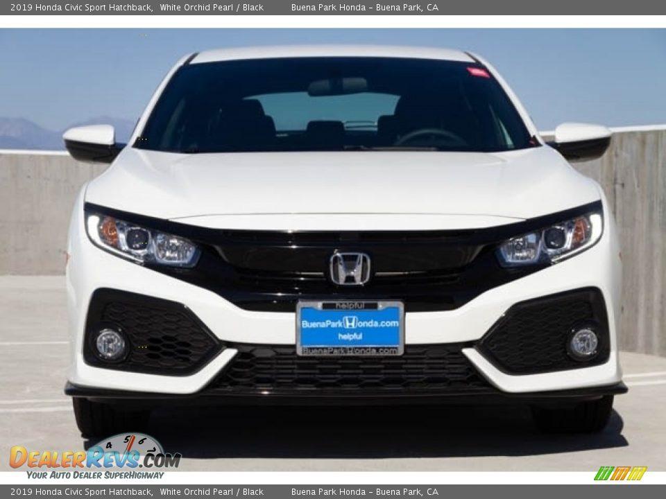 2019 Honda Civic Sport Hatchback White Orchid Pearl / Black Photo #3