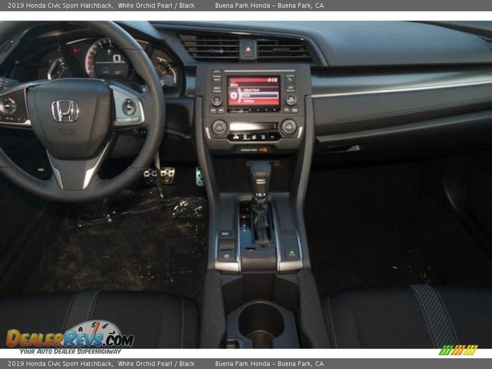 2019 Honda Civic Sport Hatchback White Orchid Pearl / Black Photo #24