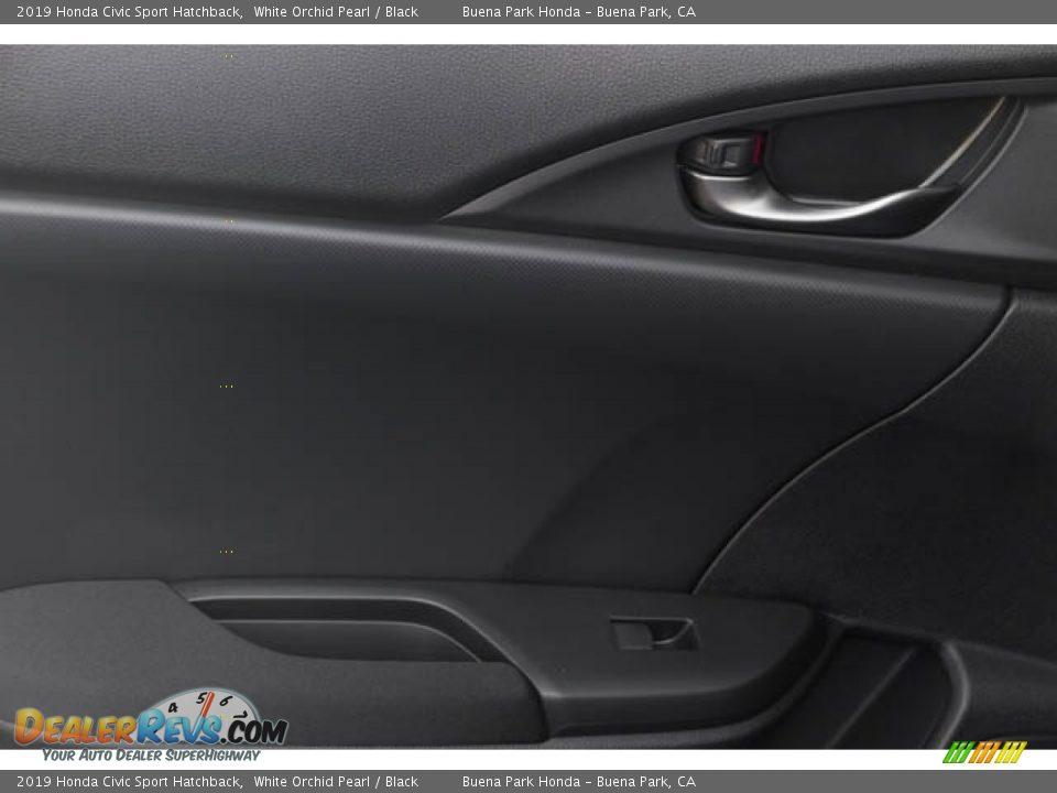 2019 Honda Civic Sport Hatchback White Orchid Pearl / Black Photo #35