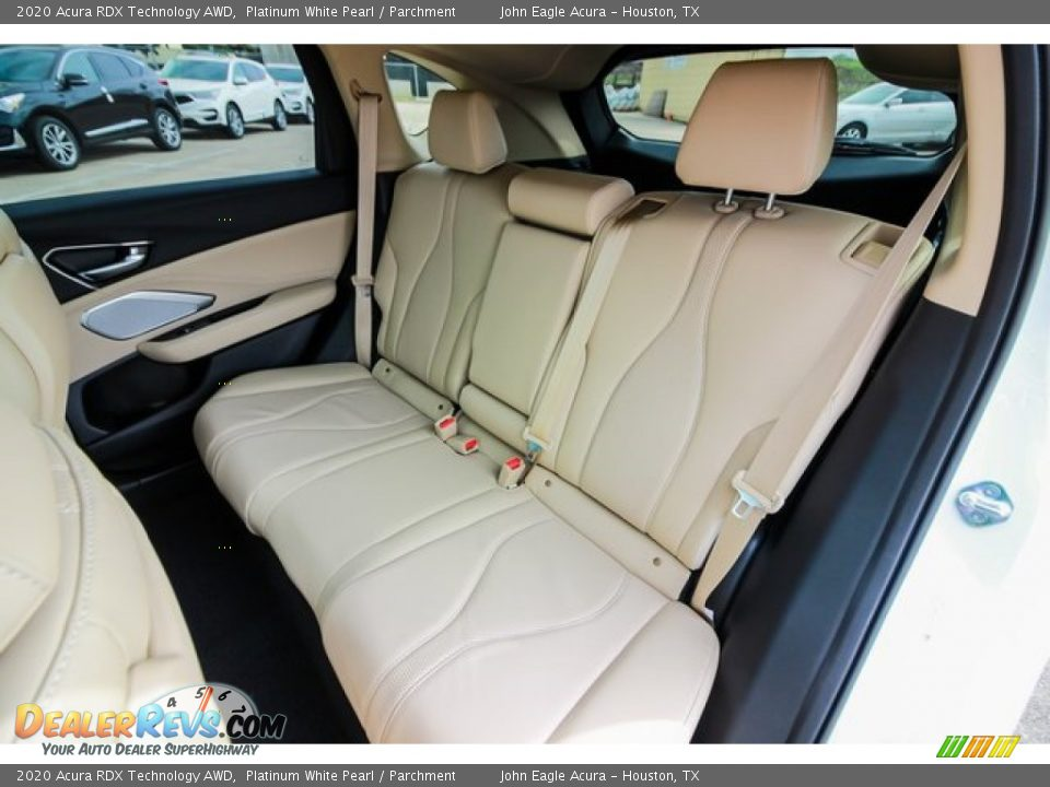 Rear Seat of 2020 Acura RDX Technology AWD Photo #18