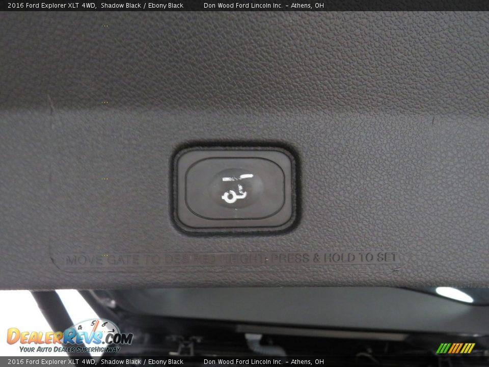2016 Ford Explorer XLT 4WD Shadow Black / Ebony Black Photo #15