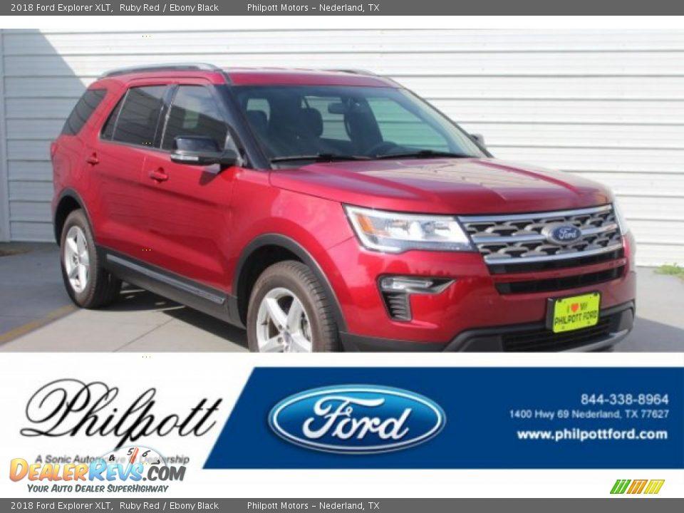 2018 Ford Explorer XLT Ruby Red / Ebony Black Photo #1