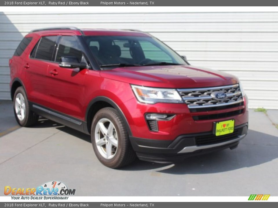 2018 Ford Explorer XLT Ruby Red / Ebony Black Photo #2