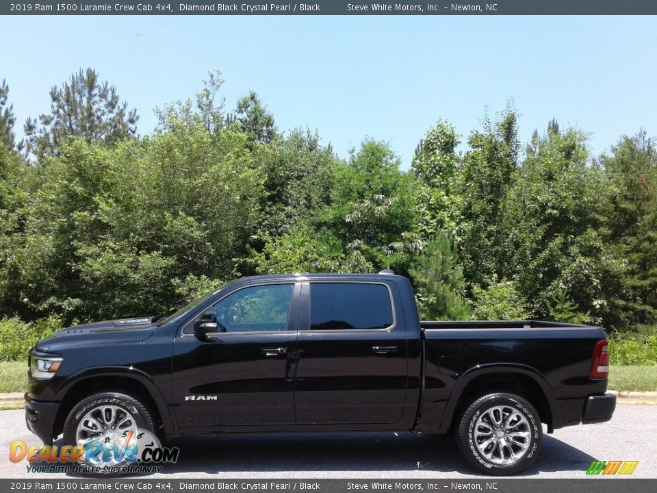 2019 Ram 1500 Laramie Crew Cab 4x4 Diamond Black Crystal Pearl / Black Photo #1