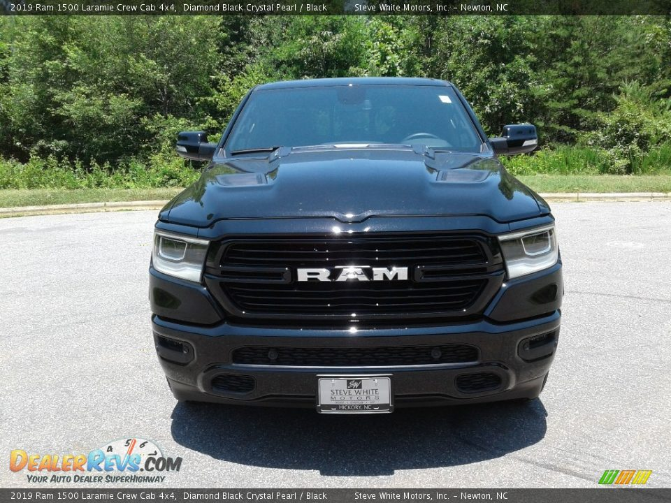 2019 Ram 1500 Laramie Crew Cab 4x4 Diamond Black Crystal Pearl / Black Photo #3