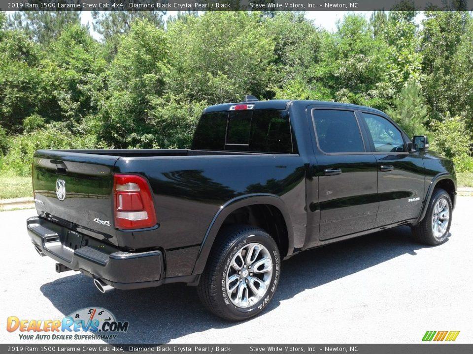 2019 Ram 1500 Laramie Crew Cab 4x4 Diamond Black Crystal Pearl / Black Photo #6