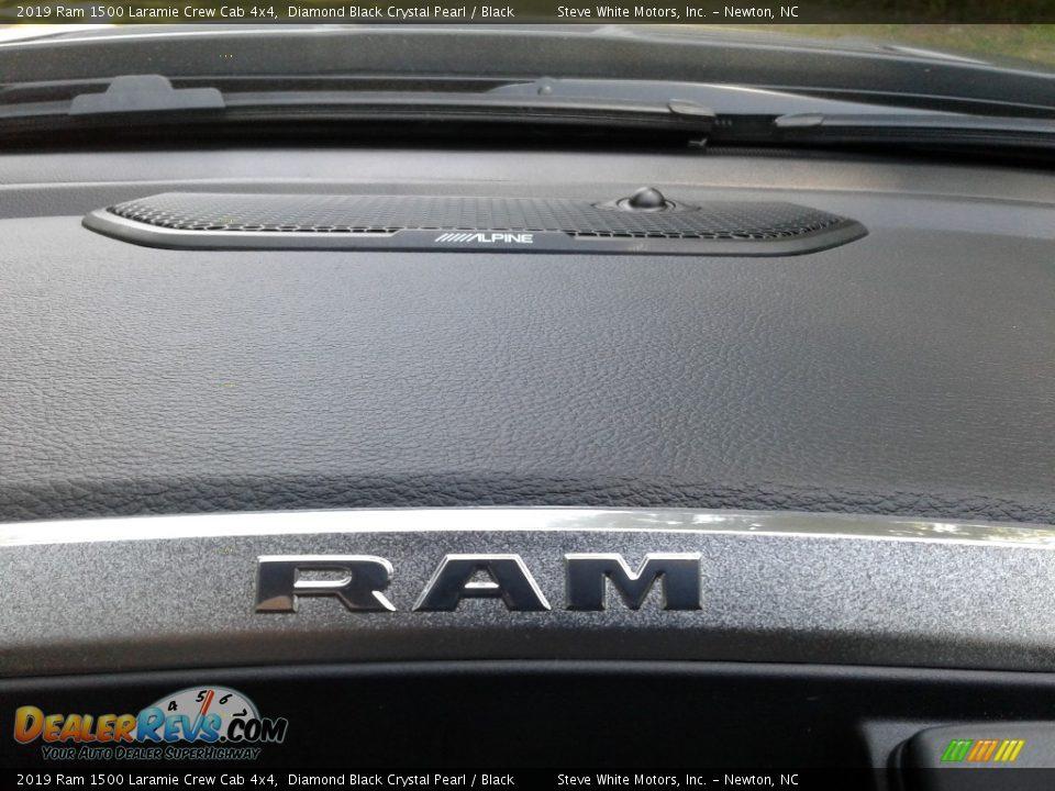 2019 Ram 1500 Laramie Crew Cab 4x4 Diamond Black Crystal Pearl / Black Photo #21