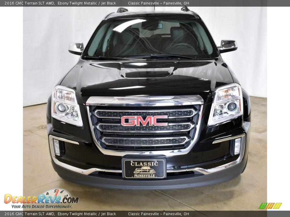 2016 GMC Terrain SLT AWD Ebony Twilight Metallic / Jet Black Photo #4