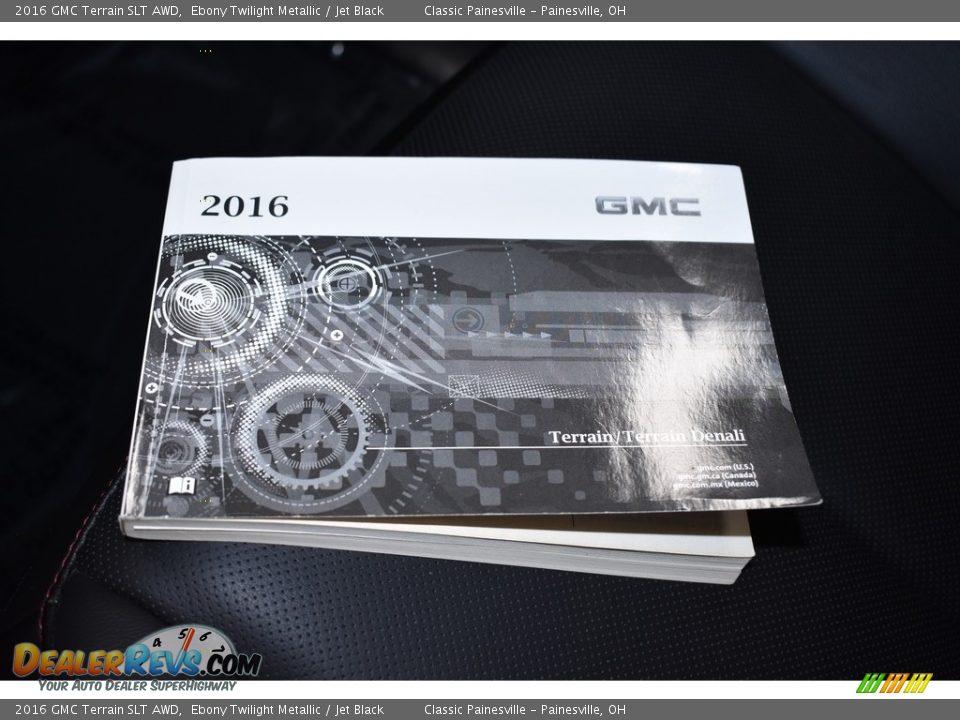 2016 GMC Terrain SLT AWD Ebony Twilight Metallic / Jet Black Photo #16