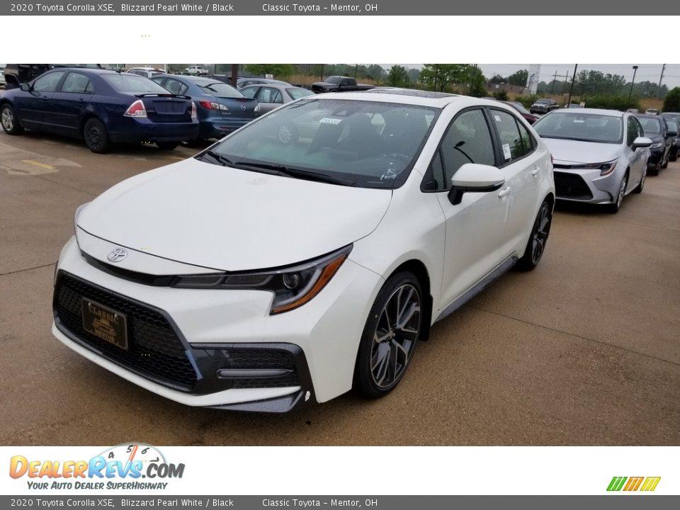 2020 Toyota Corolla XSE Blizzard Pearl White / Black Photo #1