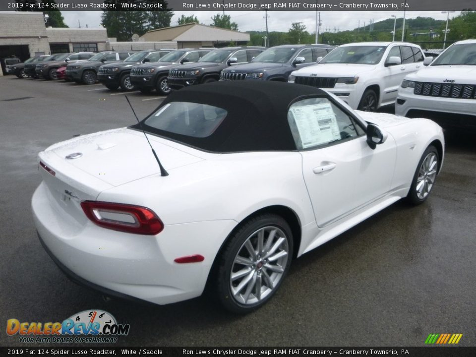 2019 Fiat 124 Spider Lusso Roadster White / Saddle Photo #5