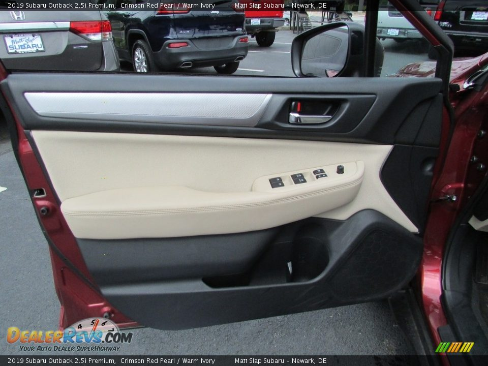 2019 Subaru Outback 2.5i Premium Crimson Red Pearl / Warm Ivory Photo #14