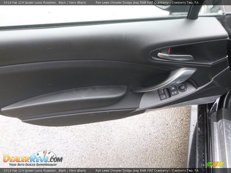 2019 Fiat 124 Spider Lusso Roadster Black / Nero (Black) Photo #11