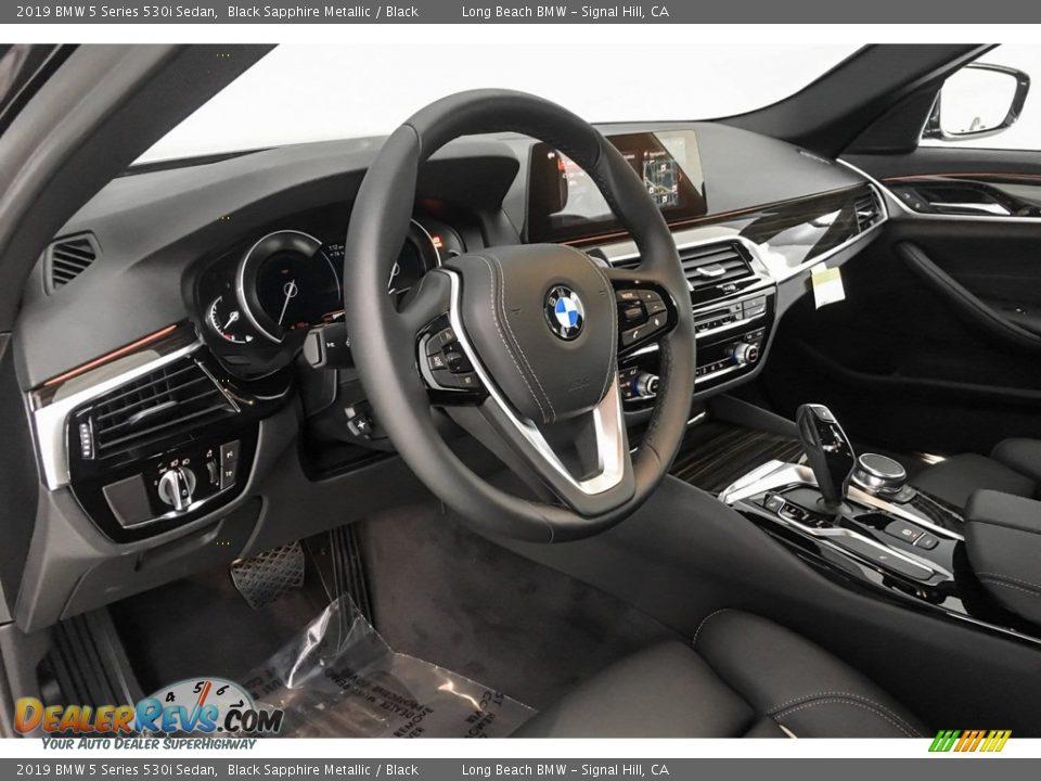 2019 BMW 5 Series 530i Sedan Black Sapphire Metallic / Black Photo #4
