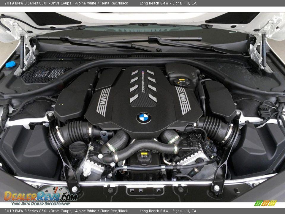 2019 BMW 8 Series 850i xDrive Coupe 4.4 Liter M TwinPower Turbocharged DOHC 32-Valve VVT V8 Engine Photo #9