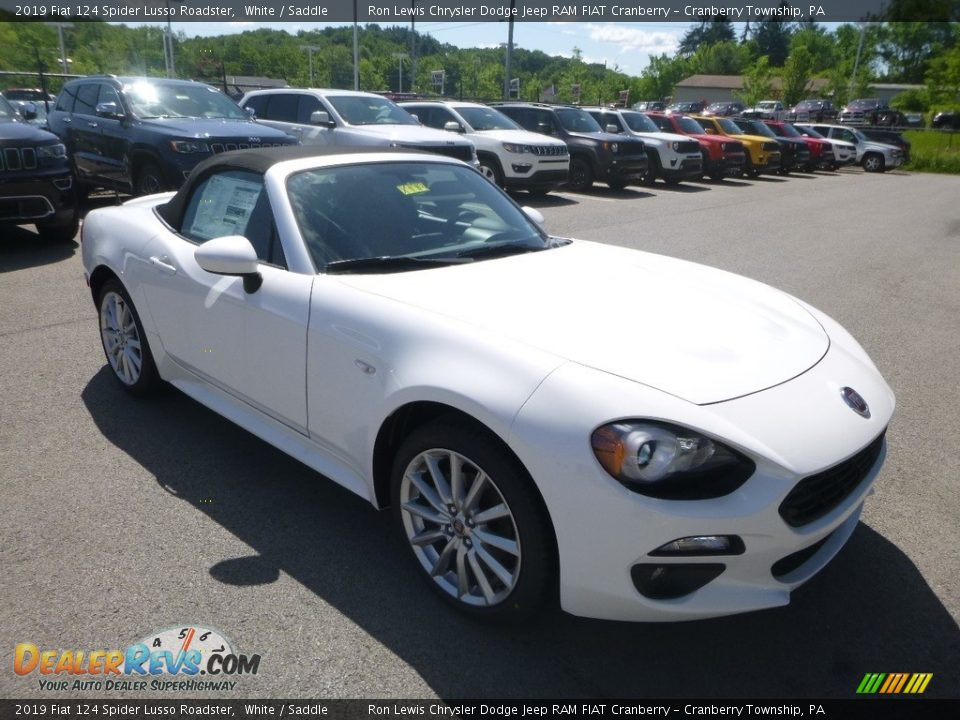 2019 Fiat 124 Spider Lusso Roadster White / Saddle Photo #7