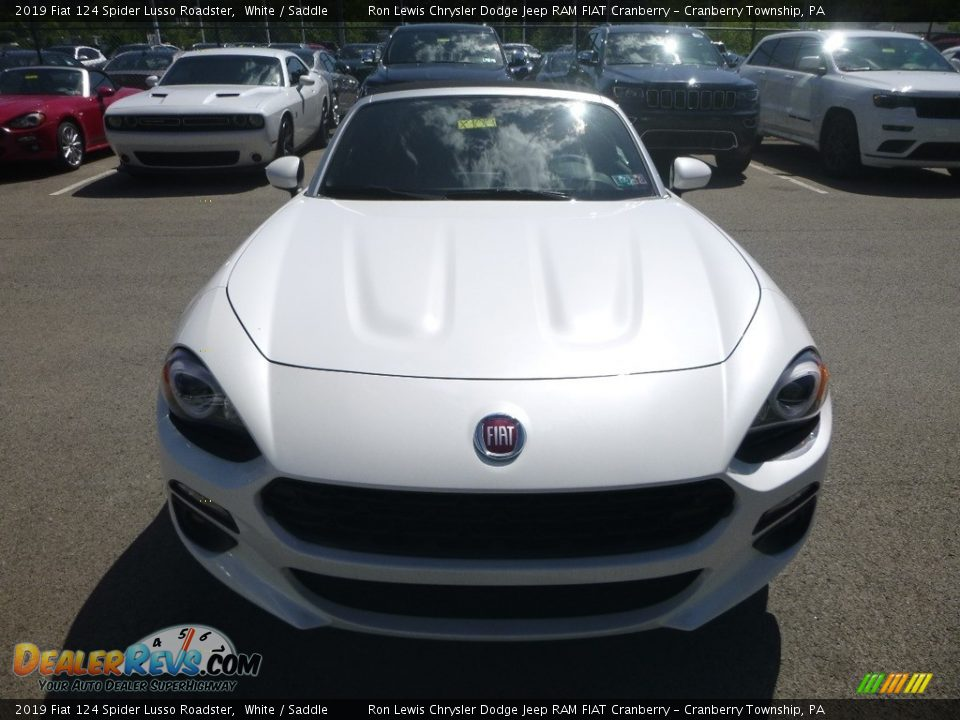 2019 Fiat 124 Spider Lusso Roadster White / Saddle Photo #8