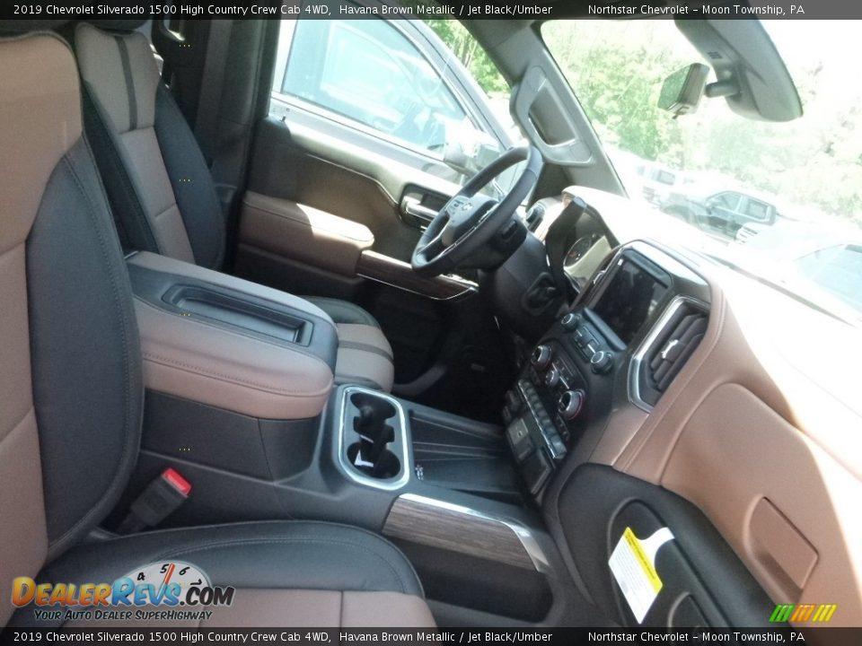 2019 Chevrolet Silverado 1500 High Country Crew Cab 4WD Havana Brown Metallic / Jet Black/Umber Photo #9
