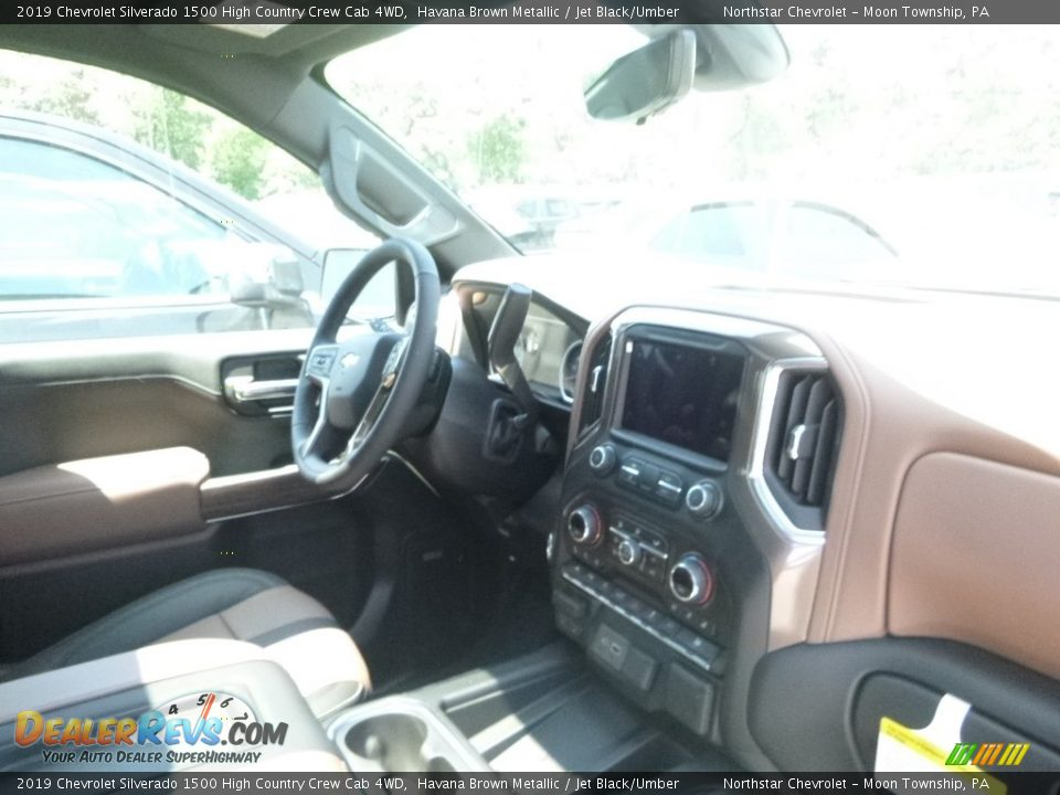 2019 Chevrolet Silverado 1500 High Country Crew Cab 4WD Havana Brown Metallic / Jet Black/Umber Photo #10