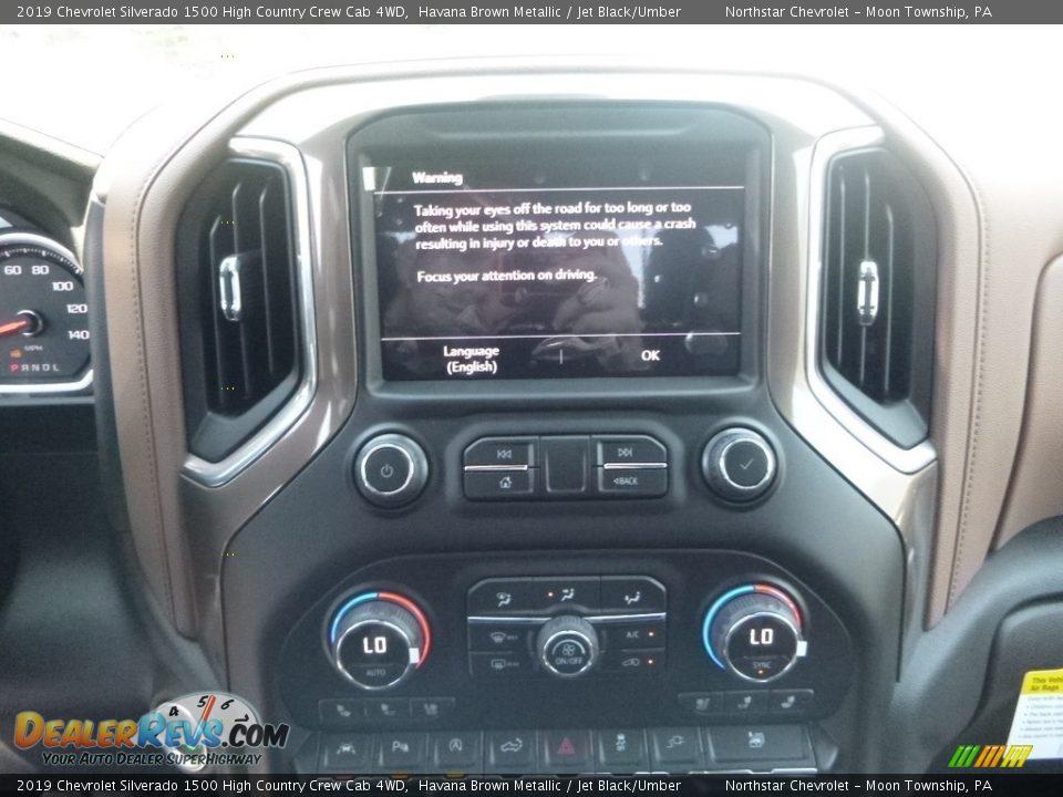 2019 Chevrolet Silverado 1500 High Country Crew Cab 4WD Havana Brown Metallic / Jet Black/Umber Photo #17