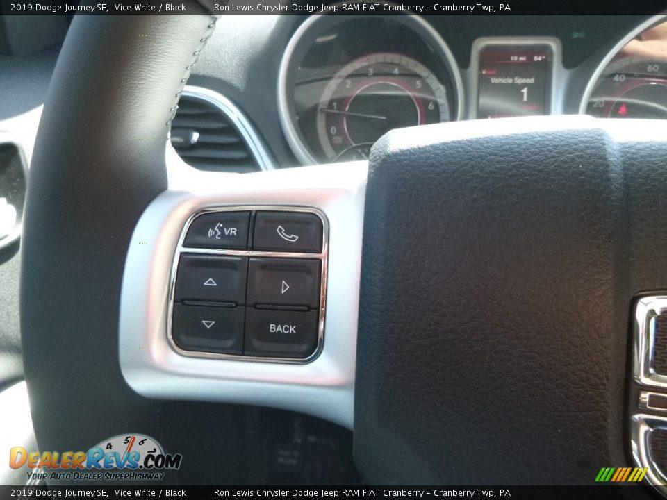 2019 Dodge Journey SE Vice White / Black Photo #19