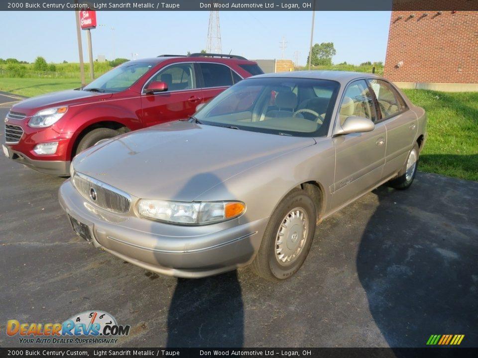 2000 Buick Century Custom Light Sandrift Metallic / Taupe Photo #8