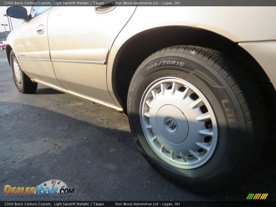 2000 Buick Century Custom Light Sandrift Metallic / Taupe Photo #10