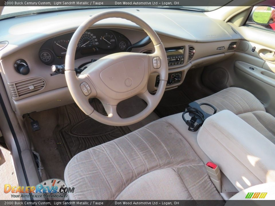 2000 Buick Century Custom Light Sandrift Metallic / Taupe Photo #19