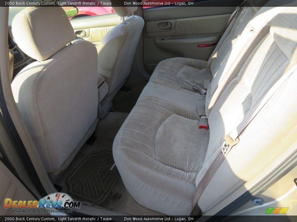 2000 Buick Century Custom Light Sandrift Metallic / Taupe Photo #23
