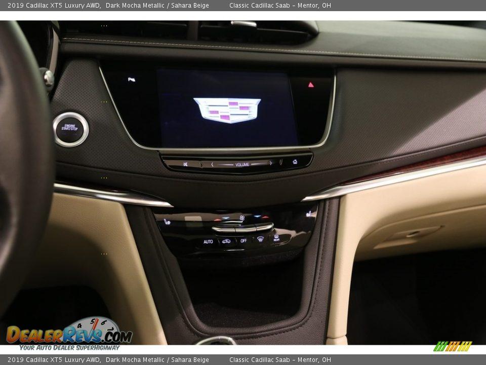 2019 Cadillac XT5 Luxury AWD Dark Mocha Metallic / Sahara Beige Photo #9