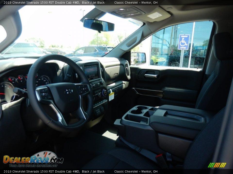 2019 Chevrolet Silverado 1500 RST Double Cab 4WD Black / Jet Black Photo #6