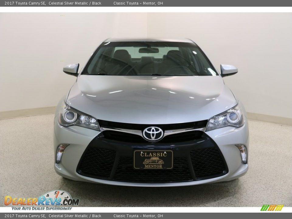 2017 Toyota Camry SE Celestial Silver Metallic / Black Photo #2